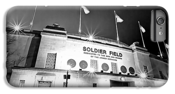 0879 Soldier Field Black And White IPhone 6 Plus Case by Steve Sturgill