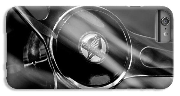 1965 Ford Mustang Cobra Emblem Steering Wheel IPhone 6 Plus Case by Jill Reger