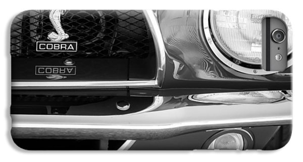 1968 Ford Mustang Fastback 427 Ci Cobra Grille Emblem IPhone 6 Plus Case by Jill Reger