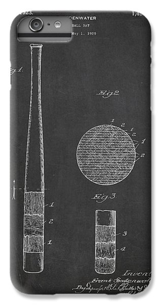 Baseball Bat Patent Drawing From 1920 IPhone 6 Plus Case by Aged Pixel