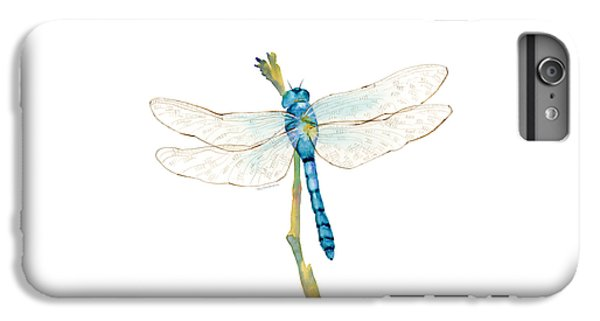 Blue Dragonfly IPhone 6 Plus Case by Amy Kirkpatrick