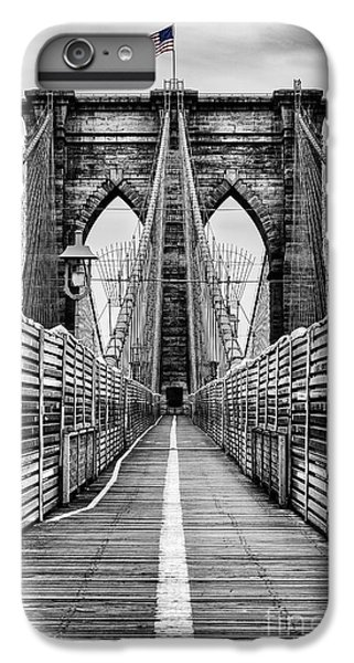 Brooklyn Bridge IPhone 6 Plus Case by John Farnan