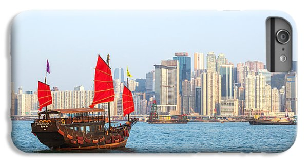 Chinese Junk Boat Sailing In Hong Kong Harbor IPhone 6 Plus Case by Matteo Colombo