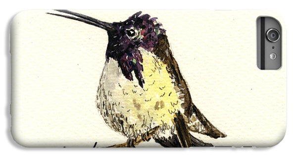 Costa S Hummingbird IPhone 6 Plus Case by Juan  Bosco