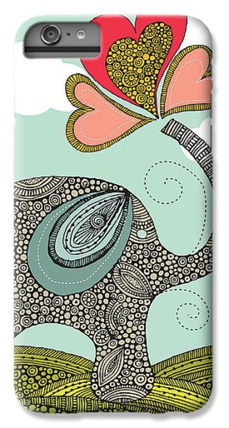 Cute Elephant IPhone 6 Plus Case by Valentina Ramos