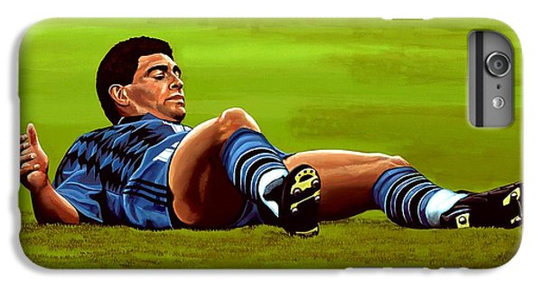 Diego Maradona IPhone 6 Plus Case by Paul Meijering