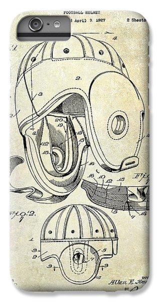 Football Helmet Patent IPhone 6 Plus Case by Jon Neidert