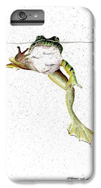 Frog On Waterline IPhone 6 Plus Case by Steven Schultz