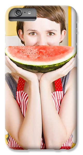 Funny Woman With Juicy Fruit Smile IPhone 6 Plus Case by Jorgo Photography - Wall Art Gallery