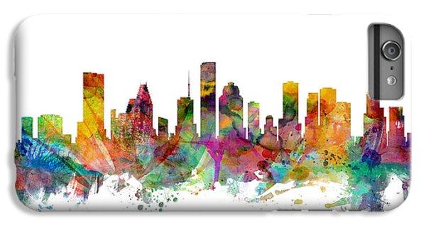 Houston Texas Skyline IPhone 6 Plus Case by Michael Tompsett