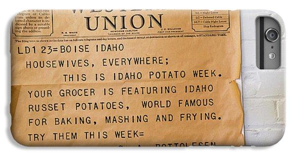 Idaho Potato Museum IPhone 6 Plus Case by Jim West