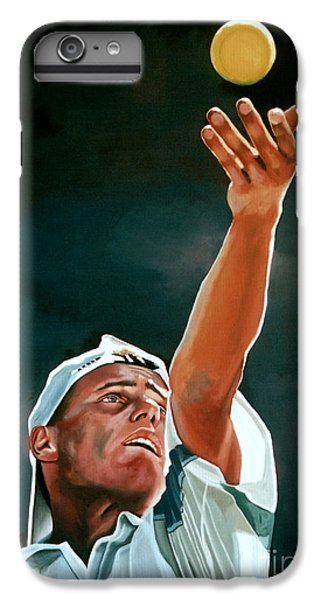 Lleyton Hewitt IPhone 6 Plus Case by Paul Meijering
