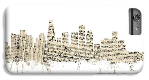 Los Angeles California Skyline Sheet Music Cityscape IPhone 6 Plus Case by Michael Tompsett