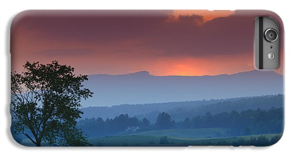 Sunset Over Mt. Mansfield In Stowe Vermont IPhone 6 Plus Case by Don Landwehrle