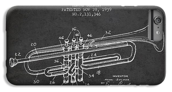 Vinatge Trumpet Patent From 1939 IPhone 6 Plus Case by Aged Pixel