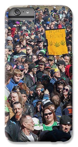 Legalisation Of Marijuana Rally IPhone 6 Plus Case by Jim West