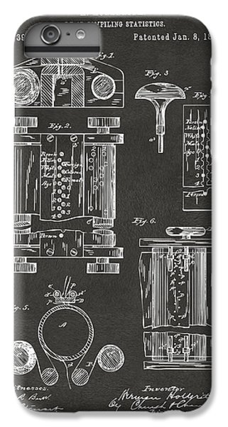1889 First Computer Patent Gray IPhone 6 Plus Case by Nikki Marie Smith