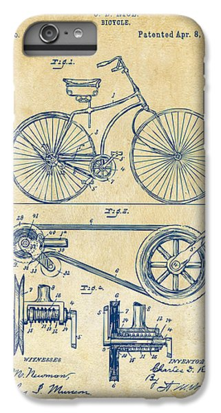 1890 Bicycle Patent Artwork - Vintage IPhone 6 Plus Case by Nikki Marie Smith