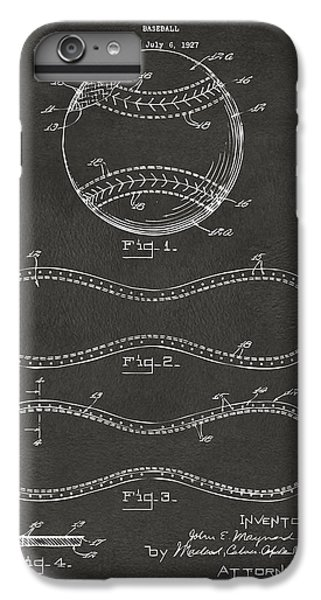 1928 Baseball Patent Artwork - Gray IPhone 6 Plus Case by Nikki Marie Smith