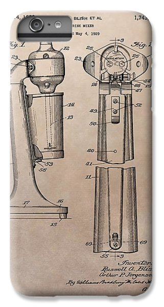 1930 Drink Mixer Patent IPhone 6 Plus Case by Dan Sproul