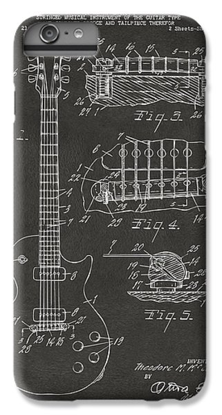1955 Mccarty Gibson Les Paul Guitar Patent Artwork - Gray IPhone 6 Plus Case by Nikki Marie Smith