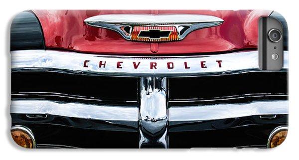 1955 Chevrolet 3100 Pickup Truck Grille Emblem IPhone 6 Plus Case by Jill Reger