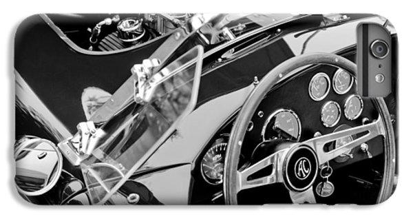 Ac Shelby Cobra Engine - Steering Wheel IPhone 6 Plus Case by Jill Reger