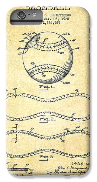 Baseball Patent Drawing From 1928 IPhone 6 Plus Case by Aged Pixel