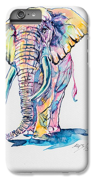 Colorful Elephant IPhone 6 Plus Case by Kovacs Anna Brigitta