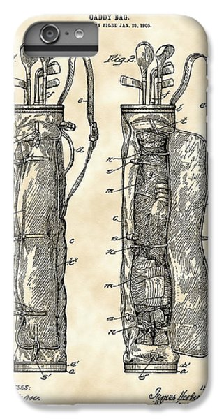 Golf Bag Patent 1905 - Vintage IPhone 6 Plus Case by Stephen Younts