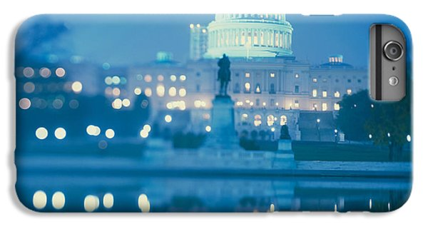 Government Building Lit Up At Night IPhone 6 Plus Case by Panoramic Images