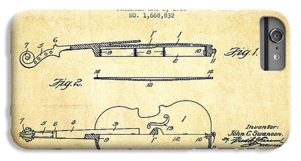 Violin Patent Drawing From 1928 IPhone 6 Plus Case by Aged Pixel