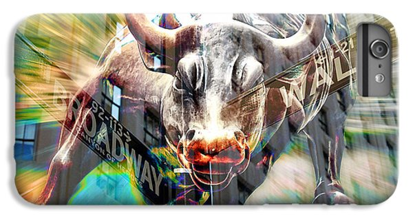 Wall Street Bull IPhone 6 Plus Case by Marvin Blaine
