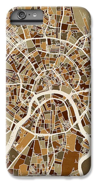 Moscow City Street Map IPhone 6 Plus Case by Michael Tompsett