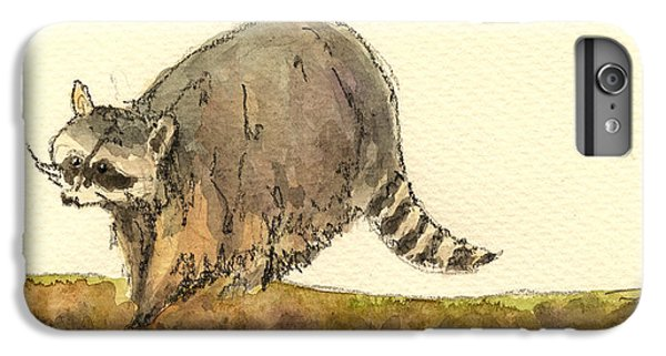 Raccoon IPhone 6 Plus Case by Juan  Bosco