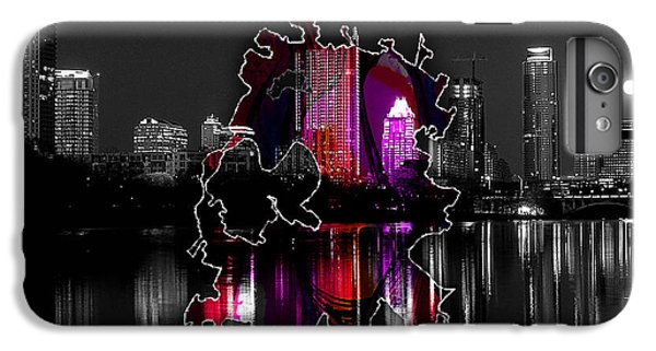 Austin Map And Skyline Watercolor IPhone 6 Plus Case by Marvin Blaine