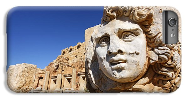 Sculpted Medusa Head At The Forum Of Severus At Leptis Magna In Libya IPhone 6 Plus Case by Robert Preston