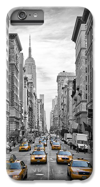5th Avenue Yellow Cabs IPhone 6 Plus Case by Melanie Viola