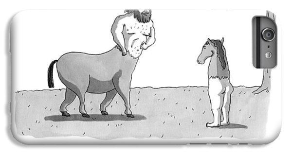 A Centaur Angrily Talks To A Creature Who IPhone 6 Plus Case by Zachary Kanin