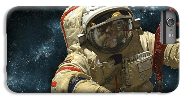 A Cosmonaut Against A Background IPhone 6 Plus Case by Marc Ward