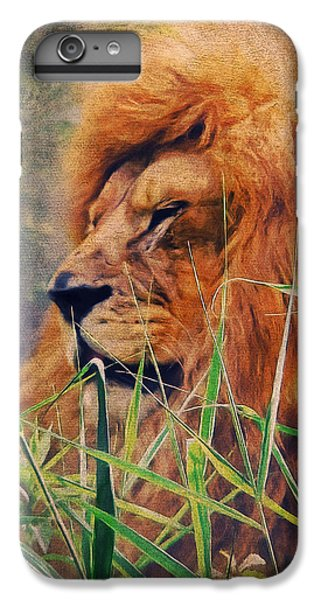 A Lion Portrait IPhone 6 Plus Case by Angela Doelling AD DESIGN Photo and PhotoArt