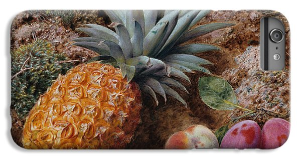 A Pineapple A Peach And Plums On A Mossy Bank IPhone 6 Plus Case by John Sherrin