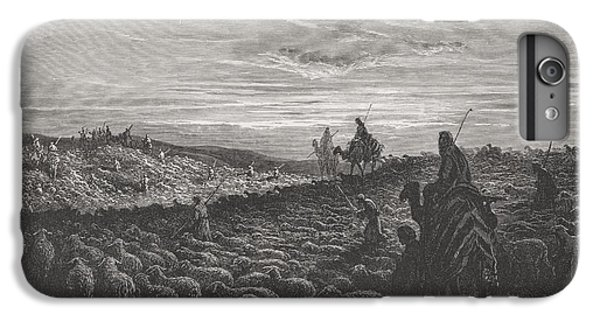 Abraham Journeying Into The Land Of Canaan IPhone 6 Plus Case by Gustave Dore