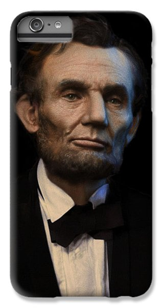 Abraham Lincoln Portrait IPhone 6 Plus Case by Ray Downing