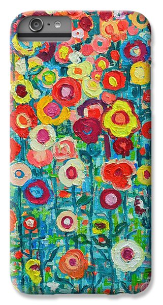 Abstract Garden Of Happiness IPhone 6 Plus Case by Ana Maria Edulescu