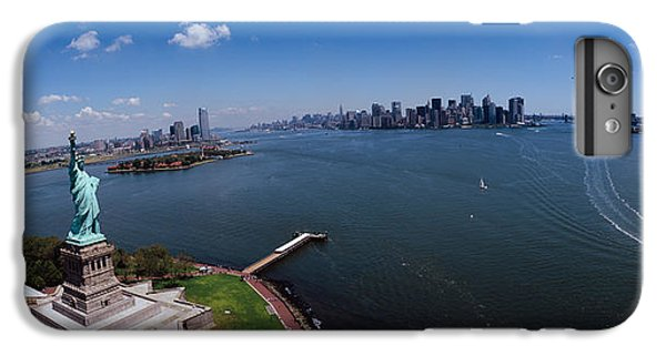 Aerial View Of A Statue, Statue IPhone 6 Plus Case by Panoramic Images