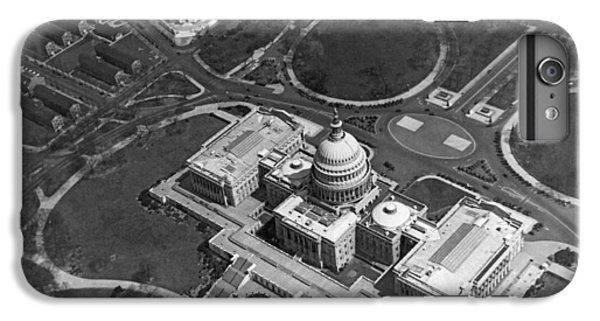 Aerial View Of U.s. Capitol IPhone 6 Plus Case by Underwood Archives