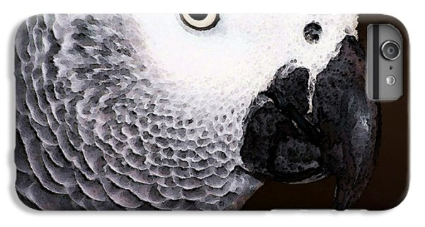 African Gray Parrot Art - Seeing Is Believing IPhone 6 Plus Case by Sharon Cummings