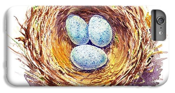 American Robin Nest IPhone 6 Plus Case by Irina Sztukowski