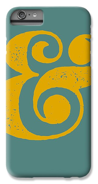 Ampersand Poster Blue And Yellow IPhone 6 Plus Case by Naxart Studio
